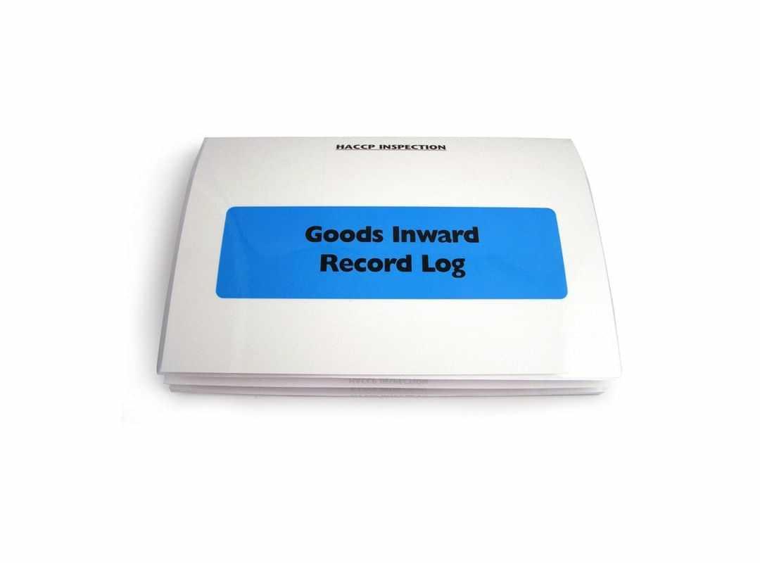 HAC004 - Goods Inwards Record Log - Blue
