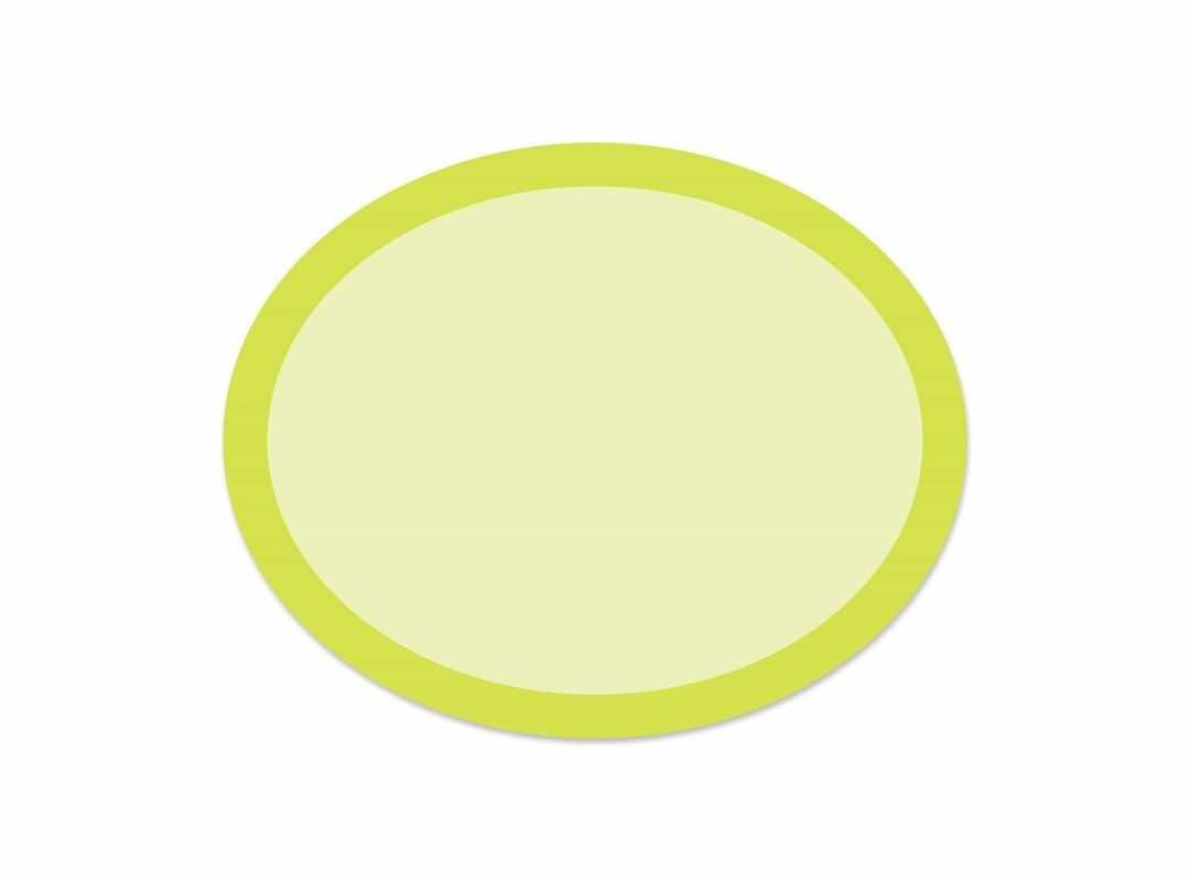 OVA004 - Green Rainbow Oval 28 p/s Label