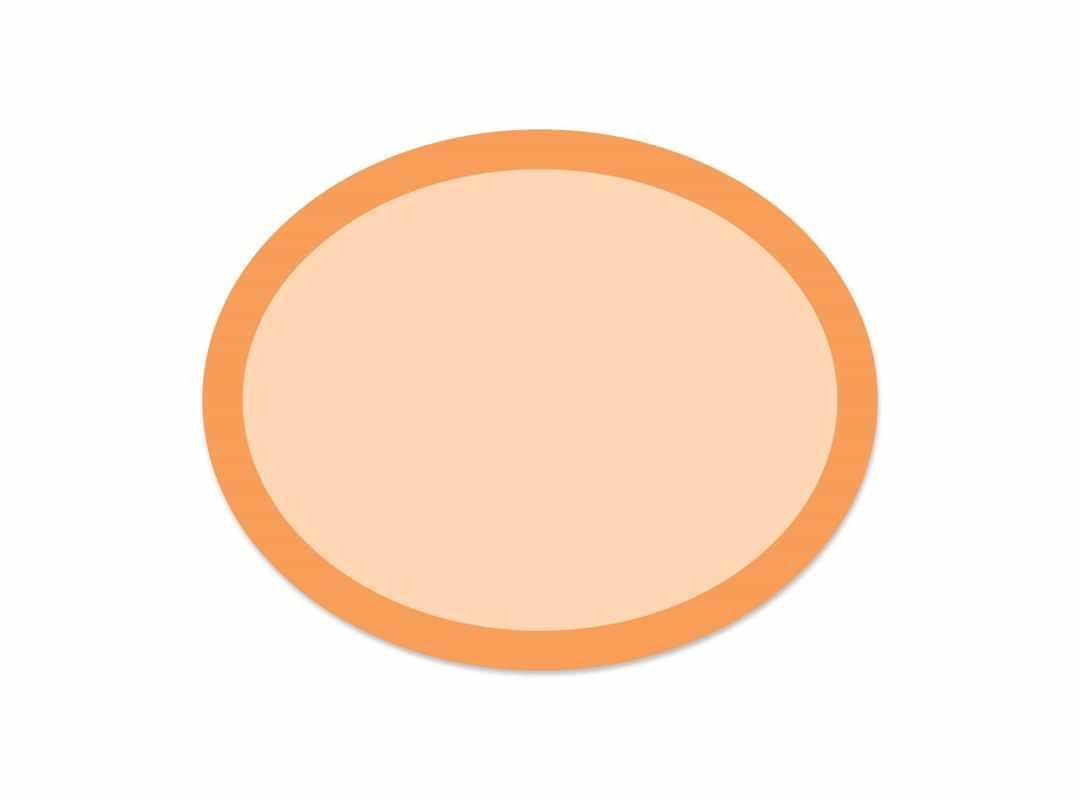 OVA010 - Orange Rainbow Oval 28 p/s Label