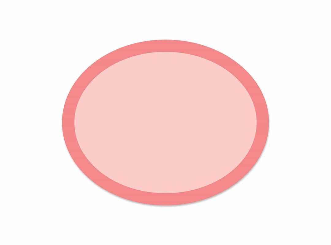 OVA008 - Pink Rainbow Oval 28 p/s Label
