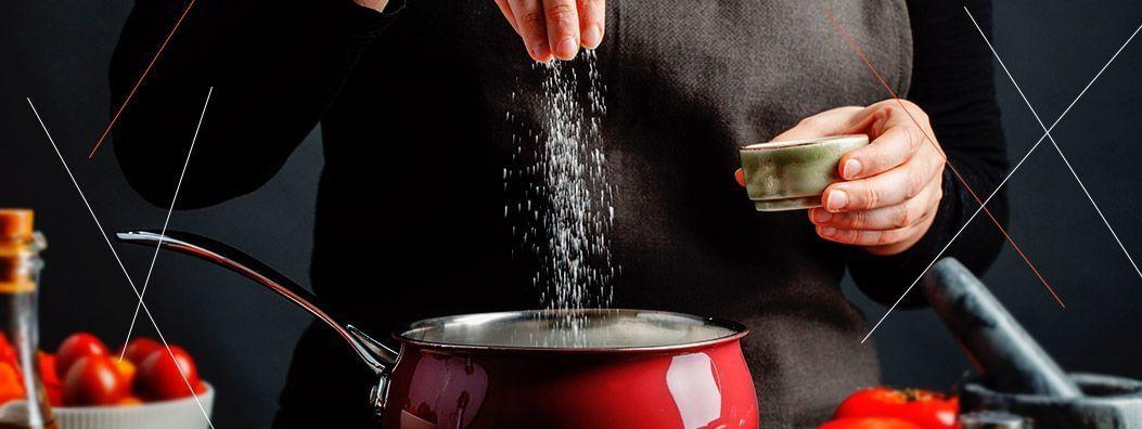Como tirar o sal da comida?