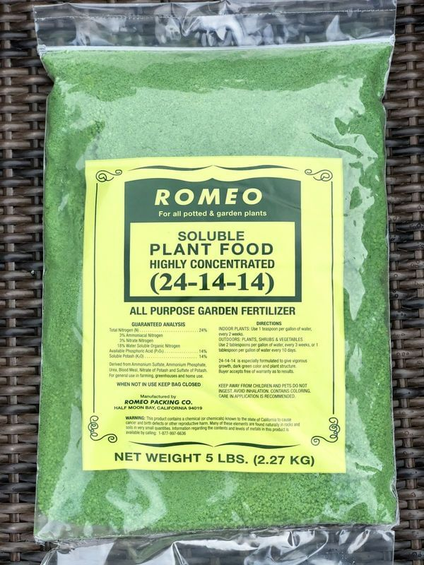 Romeo Plant Food/ Fertilizer (non-organic - 2:1:1)