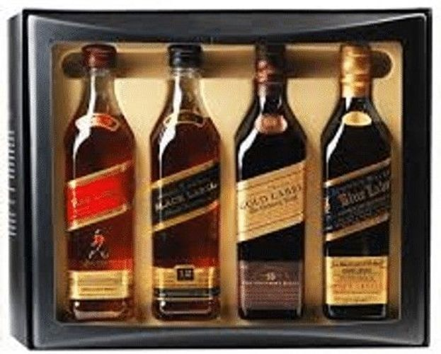 Johnnie Walker The Collection 4 x 0,2L red,black,gold,blue