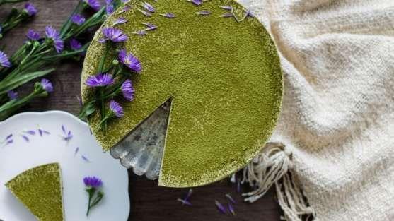 cheesecake de chá verde