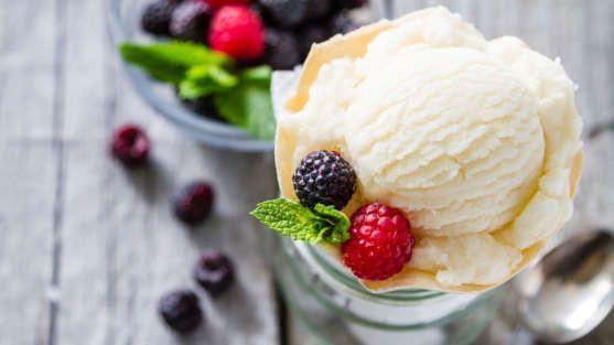 sorvete de baunilha