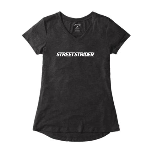 Women's Vintage Black V-Neck Shirt