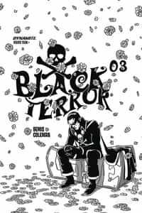 Black Terror #3 Variant 20 Copy Fornes BW
