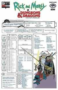 Rick and Morty Vs Dungeons and Dragons II Painscape #4 CVR C Char Sheet