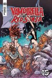 Vampirella Red Sonja #3 CVR C Johnson and Spicer