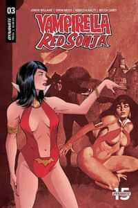 Vampirella Red Sonja #3 CVR E Moss Then Now
