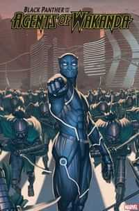 Black Panther and Agents of Wakanda #3 Variant Rock He Kim 2099 Var