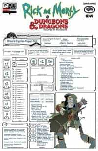 Rick and Morty Vs Dungeons and Dragons II Painscape #3 Cvr C Character Sheet