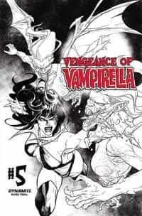 Vengeance of Vampirella #5 Variant 15 Copy Segovia BW