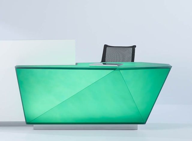 Chroma Geometric Reception Desk