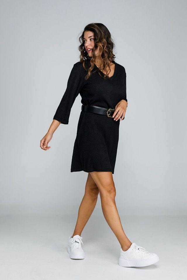 Μαύρο, ριπ φόρεμα