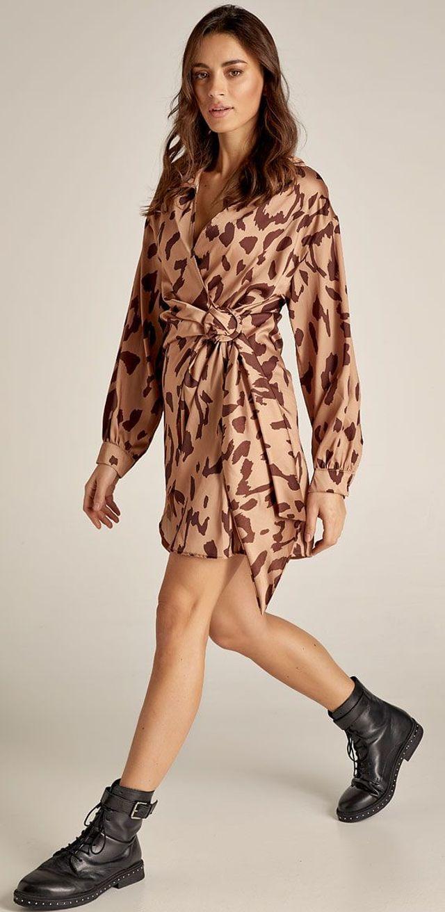 Κρουαζέ φόρεμα animal print