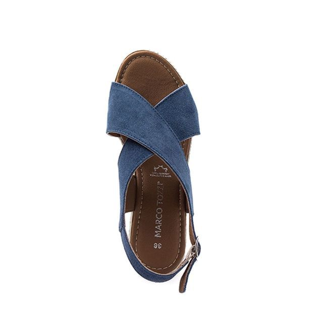 Γυναικείες Πλατφόρμες Marco Tozzi 28343 Μπλε Δέρμα  image - 1