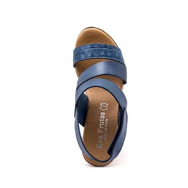 Γυναικείες Πλατφόρμες Eva Frutos 9608 Μπλε Δέρμα image - 1