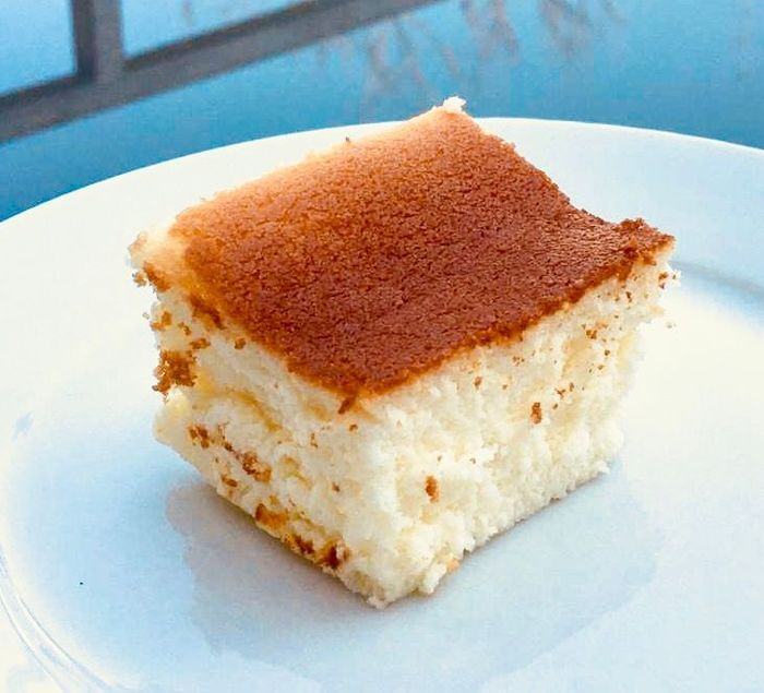 עוגת גבינה אפויה על בסיס מים