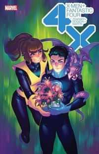 X-men Fantastic Four #1 Variant Hetrick Flower