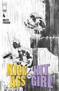 Kick-ass Vs Hit-girl #4 CVR B Bandw Romita Jr