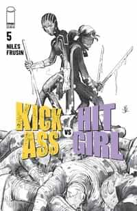 Kick-ass Vs Hit-girl #5 CVR B Bandw Romita Jr