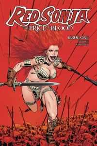 Red Sonja Price Of Blood #1 CVR B Golden