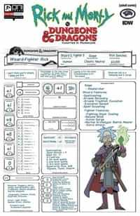 Rick and Morty Vs Dungeons and Dragons II Painscape #2 CVR C Look Character Sheet