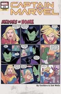Captain Marvel #21 Variant Gurihiru Heroes At Home