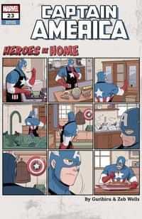 Captain America #23 Variant Gurihiru Heroes At Home