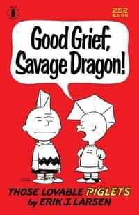Savage Dragon #252 Second Printing Charlie Brown Parody