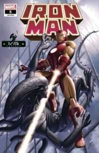 Iron Man #5 Variant Yoon Marvel Vs Alien
