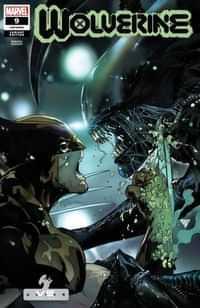 Wolverine #9 Variant Silva Marvel Vs Alien