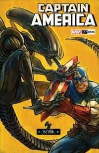 Captain America #27 Variant Shavrin Marvel Vs Alien