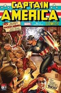 Captain America Anniversary Tribute #1 Variant Brooks