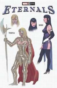 Eternals #3 Variant 10 Copy Ribic Design
