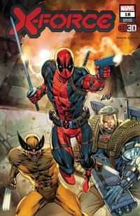 X-force #18 Variant Liefeld Deadpool 30th