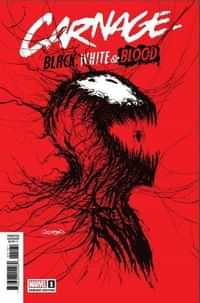 Carnage Black White And Blood #1 Variant Gleason Webhead