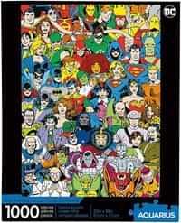 Aquarius Puzzle DC Comics Retro Cast 1000 piece