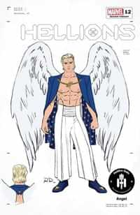 Hellions #12 Variant 50 Copy Dauterman Angel Design