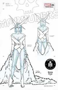Marauders #21 Variant 50 Copy Dauterman Emma Frost Design