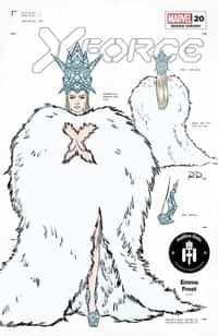 X-force #20 Variant 50 Copy Dauterman Emma Frost Design