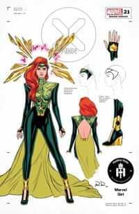 X-Men #21 Variant 50 Copy Dauterman Jean Grey Design
