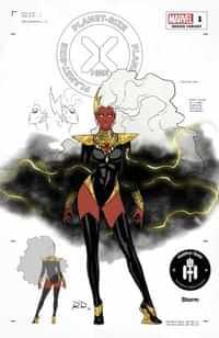Planet-sized X-men #1 Variant 50 Copy Dauterman Storm Design