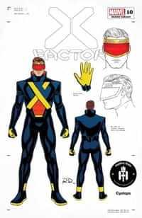 X-factor #10 Variant 50 Copy Dauterman Cyclops Design