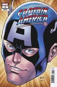 United States Captain America #1 Variant Nauck Headshot