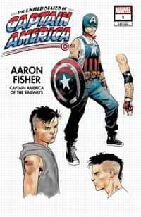 United States Captain America #1 Variant Bazaldua Design