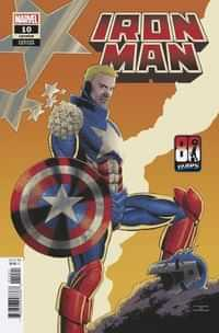 Iron Man #10 Variant Cassaday Captain America 80th