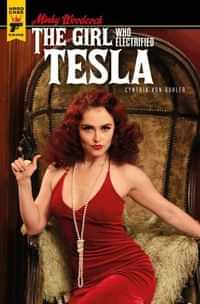 Minky Woodcock Girl Electrified Tesla #4 CVR B Photo