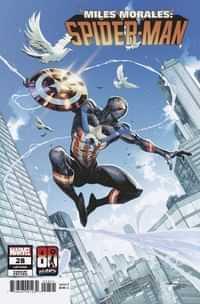 Miles Morales Spider-man #28 Variant Coello Captain America 80th